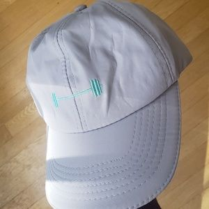 Barbell baseball cap